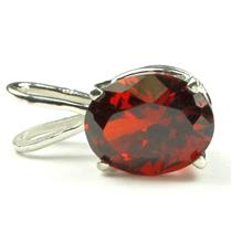 925 Sterling Silver Pendant, Created Padparadsha Sapphire, SP002
