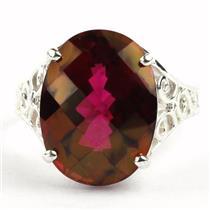 SR049, Crimson Topaz, 925 Sterling Silver Ring
