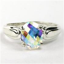 SR058, Mercury Mist Topaz, 925 Sterling Silver Ring
