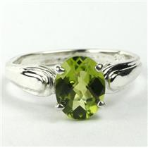 SR058, Peridot, 925 Sterling Silver Ring