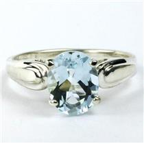 SR058, Aquamarine, 925 Sterling Silver