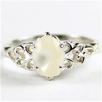 SR302, Mother Of Pearl, 925 Sterling Silver Ring