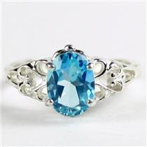 Paraiba Topaz, 925 Sterling Silver Ladies Ring, SR302