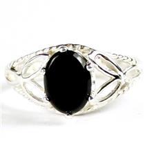 SR137, Black Onyx, 925 Sterling Silver Ring
