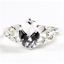SR302,  Silver Topaz, 925 Sterling Silver Ladies Ring