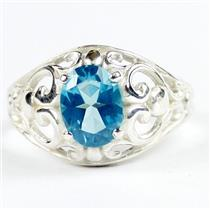 Paraiba Topaz, 925 sterling Silver Ladies Ring, SR111