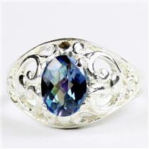 Neptune Garden Topaz, 925 Sterling Silver Ladies Ring, SR111
