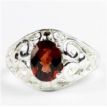 Mozambique Garnet, 925 Sterling Silver Ring, SR111
