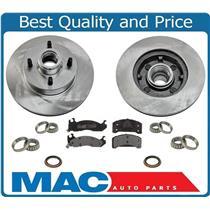 (2) Frt Brake Rotor Pads Wheel Bearings Seal for Mustang 2.3L 4 Cly 87-93