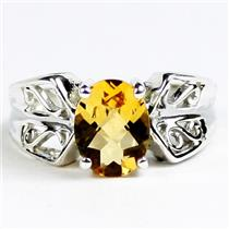Citrine, 925 Sterling Silver Ladies Ring, SR281