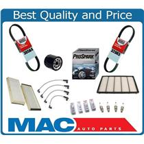 04-08 RX-8 Tune-Up Kit Spark Plugs Wires Oil & Air Filter Cabin Filter Belts 10P