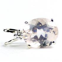 925 Sterling Silver Pendant, Rose Quartz, SP022