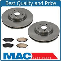(2) Front Brake Rotors & Ceramic Pads fits for 06-2014 Subaru B9 Tribeca