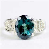 Paraiba Topaz, 925 Sterling Silver Ladies Ring, SR369