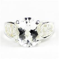 Silver Topaz, 925 Sterling Silver Ladies Ring, SR369