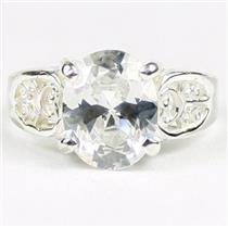 Cubic Zirconia, 925 Sterling Silver Ladies Ring, SR369