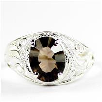 Smoky Quartz, 925 Sterling Silver Ladies Ring, SR083