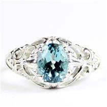 Paraiba Topaz, 925 Sterling Silver Ladies Ring, SR113