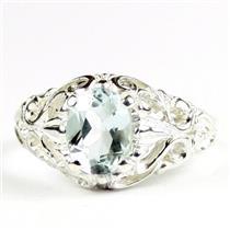 Aquamarine, 925 Sterling Silver Ring, SR113