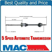 (1) 100% New Front Passenger Side CV Shaft Axle for Quest 04-09 5 Speed A/T