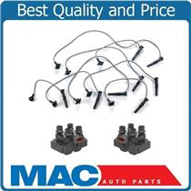 (2) Ignition Coil Packs With Spark Plug Wire Set 1996-1998 Ford Mustang GT 4.6L