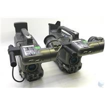 Lot of 2 JVC GY-DV500U MiniDV Broadcast Camcorder UNTESTED