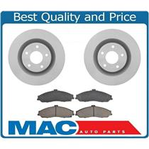 (2) Front brake rotors 325MM 12.80 inch & Ceramic Brake Pads for 05-13 Corvette