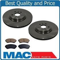 (2) 55156 Disc Brake Rotor Ceraic Pads CD1331 GM 345MM 13.4 Inch J55 Brake Code