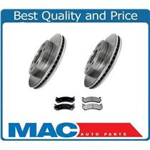 (2) Front Rotors & Ceramic Pads for Chevrolet Express Van G1500 2003-2008