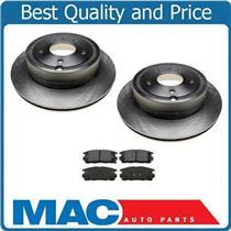 (2) 55147 Rear Brake Rotors & CD1275 Dash4 Ceramic Rear Pads for 07-09 Equinox