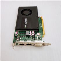 OEM Dell Nvidia Quadro K2000 GPU 2GB GDDR5 128bit PCIe 2.0 x16 Video Card 0JHRJ