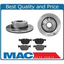 (2) Rear Brake Dics Rotors & Ceramic Pads for 2007-2016 BMW X5 3.0L 3.5L Only
