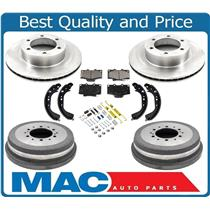 100% New Rotors Pads Shoes for Toyota 4Runner 3.4L 97-01 16 Rim w Larger 319MM