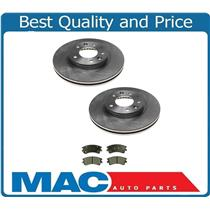 (2) Front Disc Brake Rotor & Ceramic Brake Disc Pads for 03-05 Mazda 6
