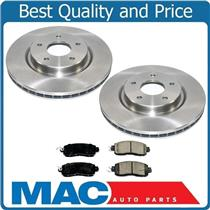 100% New Front Ceramic Pads & Rotors for Nissan Leaf 2016-2017