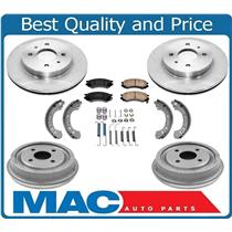 Saturn SL SC SW 91 to 02  Frt & Rr Rotors  Drums Front Pads Rear Brake Shoes 7Pc