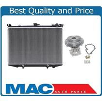 100% New Fan Clutch Water Pump Kit & Radiator for Nissan Pick Up 2.4L 95-97