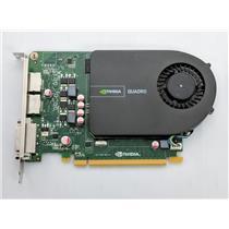 Nvidia HP Quadro 2000 1GB GDDR5 SDRAM 128bit PCIe 2x16 Graphics Card 671136-001