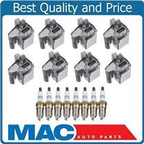 (8) Square Ignition Coil With A.C Iridium Spark Plugs 99-06 Silverado V8