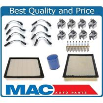 (8) New Square Ignition Coil With A.C Iridium Spark Plugs 99-06 Silverado V8
