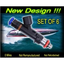 NEW 2007 & Up Mercruiser 4.3L Fuel Injector 879312003 Set of 6