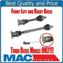 (2) 100% New Front Axles for Automatic Trans Jetta 09-15 2.0L Diesel Models ONLY