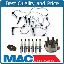 100% New Ignition Wires Cap & Rotor Spark Plugs for Honda 95-97 Accord V6 2.7L