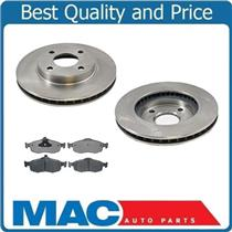 (2) 54012 Front Disc Brake Rotor With MD648 Frt Pads Without Sensors