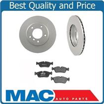 (2) BMW 34173 Front Disc Brake Rotor & Brake Pads Fits For 01-05 325i