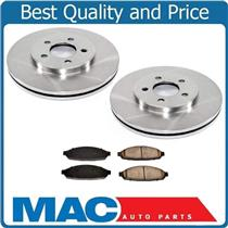 (2) 100% New Front Disc Brake Rotor & Ceramic Pads 03-11 CROWN VICTORIA TOWN CAR