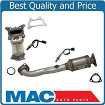 Upper & Lower (2) Catalytic Converters & (2) O2 Sensors for Honda CRV 2010-2011