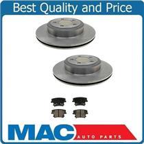 (2) Premium 53024 Disc Brake REAR Rotor & Ceramic Pads 12.60 Vented Rr Rotors