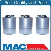 100% New 3 Pack Fuel Filter Water Separator for 04-17 Sprinter Van Diesel Engine