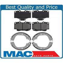 100% New Ceramic Front Pads & New Rear Brake Shoes for Toyota 4Runner 1992-2000